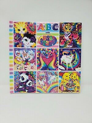 Lisa Frank ABC Book Easy Learning Teaching Alphabet Cute Animal Bright Pictures