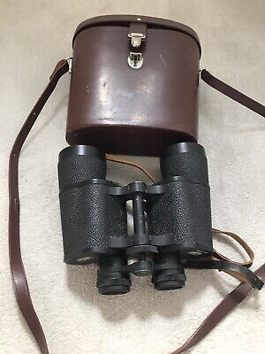 Vintage Carl Zeiss Jena Jenoptem 10x50 W  Binoculars & Leather Case and strap