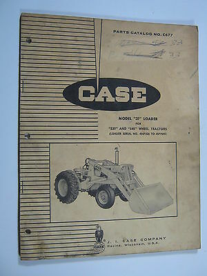 Case 31 Loader 530 540 Wheel Tractors C677 Parts Catalog Manual