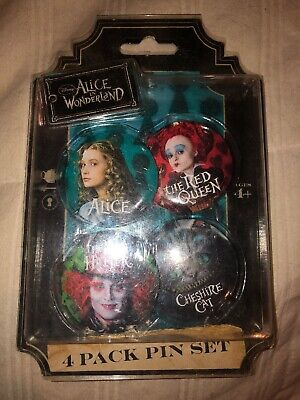 Disney Parks - Alice in Wonderland 4-pin Set - Pin #25266 new