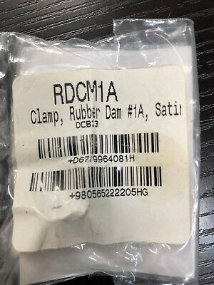 Satin Steel Rubber Dam Clamp 1a Rdcm1a Hu Friedy Original