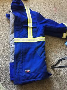 Fire retardant insulated winter coat