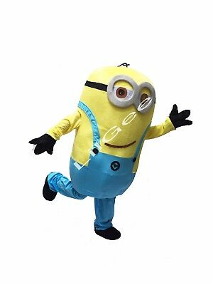 Minions Mascot Costume (Minion Despicable Me Costume mascot Christmas Party Birthday Adult Movie two)