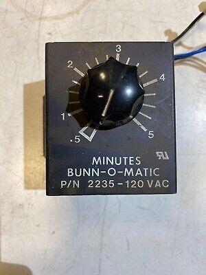 Vintage Bunn Omatic Minutes Knob 2235-120 Vac Used