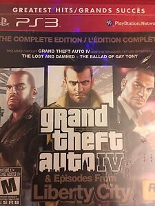 PS3 GTA IV complete edition - $20 new in plastic