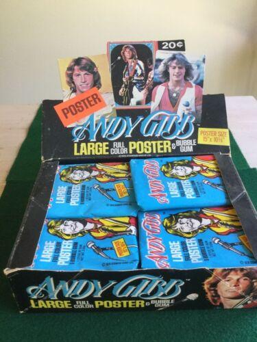 RARE Andy Gibb bubble gum display