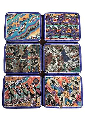 Balarinji's Authentic Aboriginal Designed Coaster.  Jason Products 6 Coasters