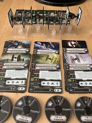 Star Wars X Wing TIE/FO X4 Squadron With G1 Accessories Miniatures