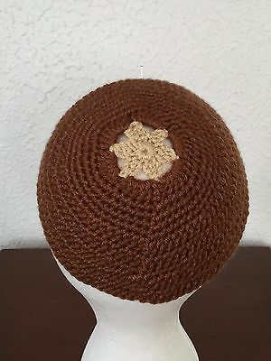 Kippah Yarmulke Jewish Judaica Yamaka Kippa Shabbat Star Of David Lt Brown
