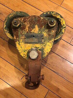 Vintage Budgit I Beam Trolley 1 Ton 2000 Pounds Chain Hoist M1041