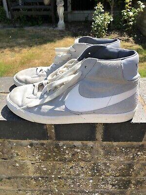 Nike Blazer '77 Mid Grey Suede Trainers Uk Size 10 EUR 45