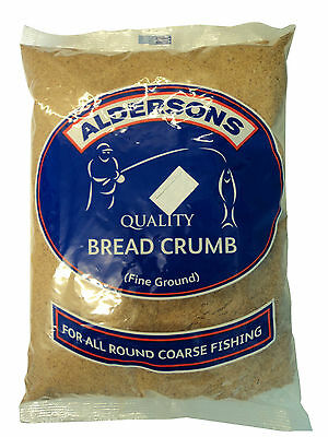 Fish Bread Crumbs - ALDERSONS QUALITY BROWN BREAD CRUMB FINE GROUND BREAM ROACH FISHING BAIT 1KG