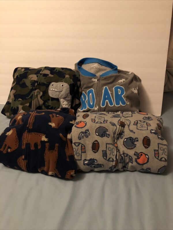Carter's Size 14 Boys One Piece Pjs Lot Of 4