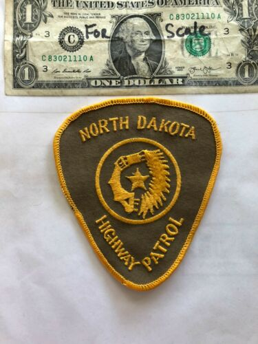 North Dakota Highway Patrol Police Patch un-sewn in great shape