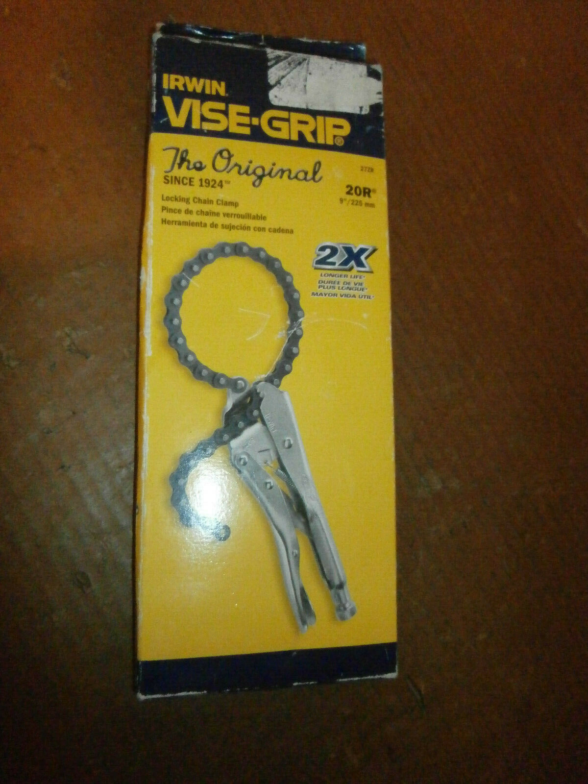 NEW IRWIN VISE GRIP 20R LOCKING CHAIN CLAMP PLIERS IN BOX