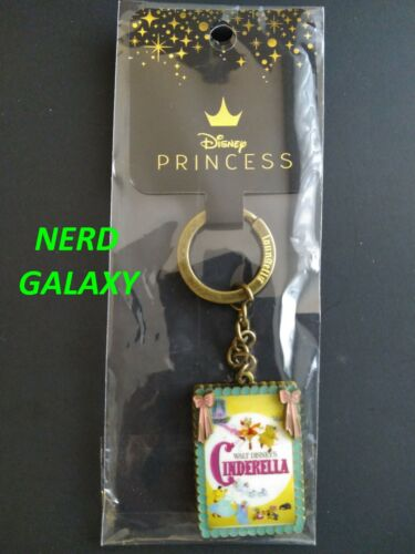 DISNEY Cinderella Movie Poster Enamel Keychain LOUNGEFLY!