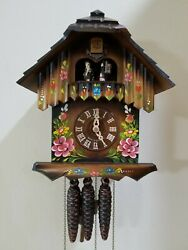 Schneider hand painted musical cuckoo clock Black Forest COA w/ Shut Off Option
