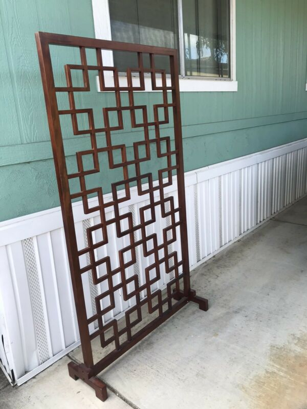 Solid Wood Single Panel Asian Room Divider Screen