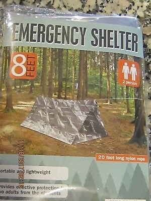 1 Mayday Solar Sleeping Bag, 1 Emergency Blanket and One 2 Person Emer. Shelter