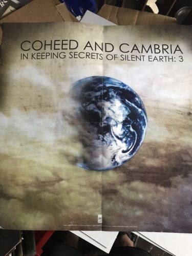 Coheed And Cambria Poster RARE In Keeping Secrets Of Silent Earth 2 Sided - $4.99