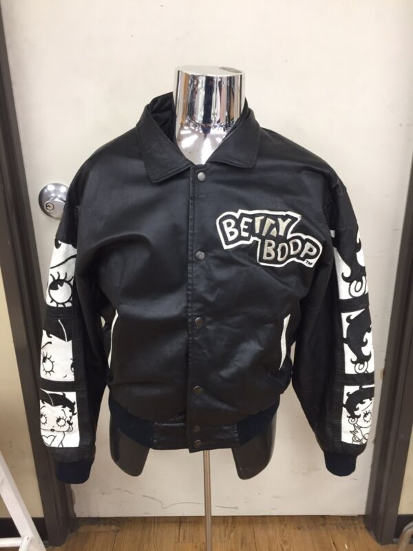 American Toons By Excelled Betty Boop Leather Jacket Size Medium