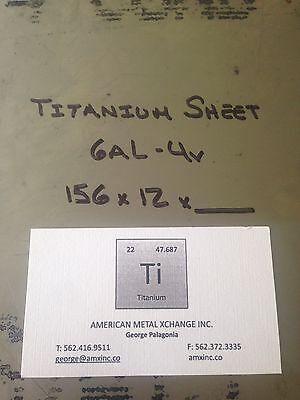 Titanium Sheet 6al-4v .156 X 12 X 12