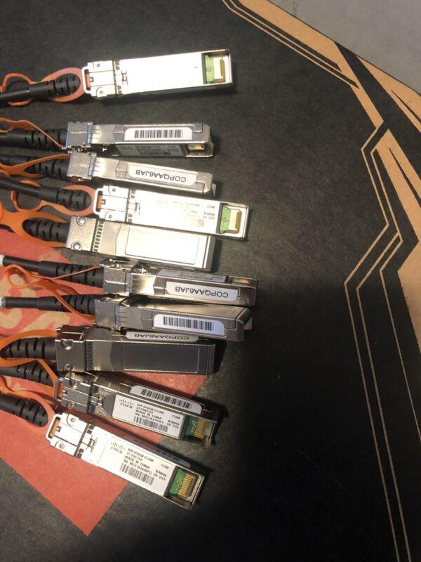 10 Cisco SFP-H10GB-CU3M Three 3 Meter Twinax Cables 37-0961-03