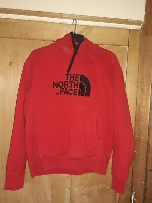 North Face Mens Large Red Hoodie