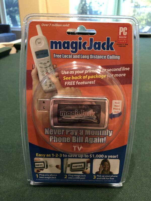 MagicJack Free Local Long Distance Calling 430-0302, Free shipping NEW SEALED