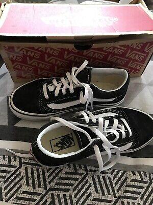 Black Classic Vans Kids Size 1 Uk