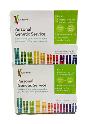 (2) 23andMe PERSONAL GENETIC SERVICE SALIVA KIT EXP 7/20 (READ DESCRIPTION!)
