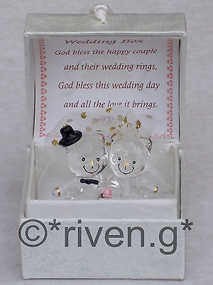 Bride and Groom Bears@Glass@Card Verse@WEDDING Gift@UNIQUE - Groom Glass Bears