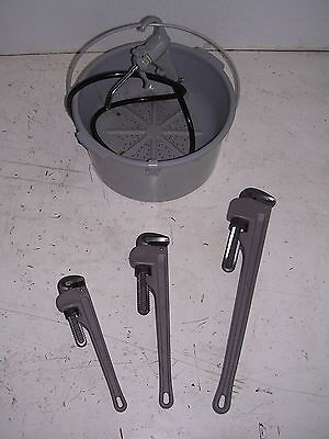 Bucket Oiler 3 Aluminum Pipe Wrenches Ridgid 65r Pipe Threader 811 815 11r 12r