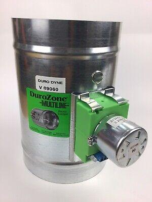 Duro Dyne Durozone 6 Inch Round Hvac Motorized Multiline Round Damper 24v