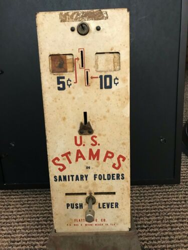 Vintage US Mail Postage Stamp Vending Machine
