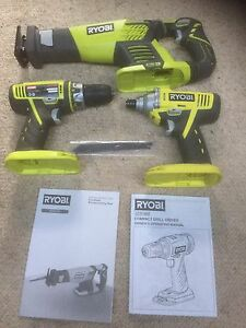 RYOBI 18 + One Tools x 3 - Skins only. Wantirna Knox Area Preview