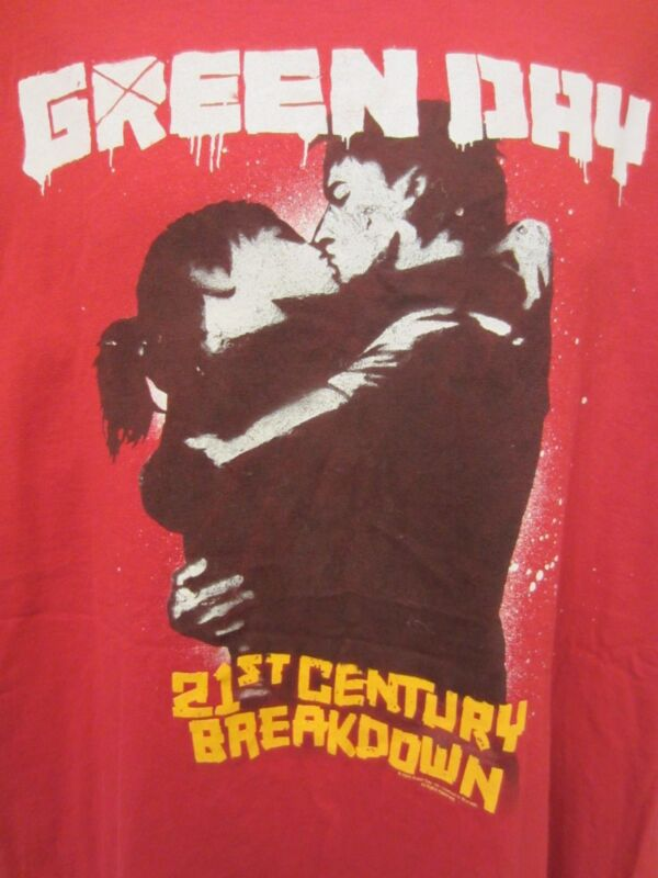Green Day 21ST Century/KissTour 2009 Red T-Shirt Anvil Size 2X