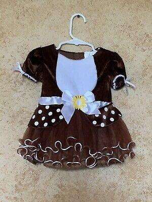 HALLOWEEN COSTUME Baby Girl Bear With Daisy Size 6-12 - Daisy Baby Kostüm