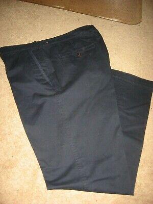 Mens Navy ABERCROMBIE & FITCH Kennan Straight Stretch Khakis Pants 34 x 31