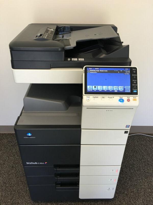 Konica Minolta Bizhub C454 Copier Printer Scanner Fax 96k Total Free Shipping