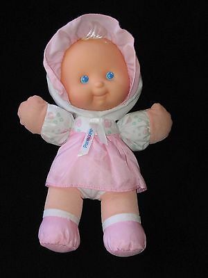 """Fisher Price Puffalump Doll Rattle Pink 11"""" Vintage 1994"""