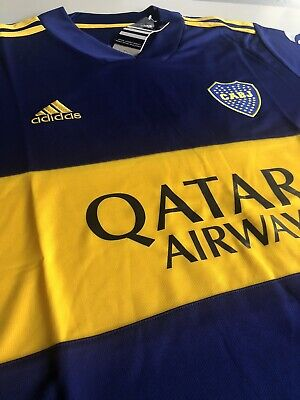New Boca Juniors Home Soccer Jersey, 2020 2021, Size L