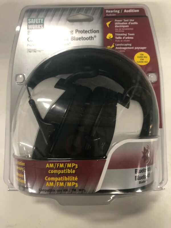 Safety Works SWX00260 AM FM MP3 Bluetooth Hearing Protection