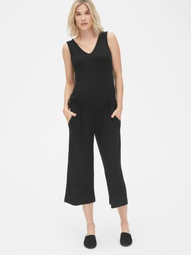 Gap NWT NEW Maternity Softspun Sleeveless Tie-Waist Jumpsuit XXL $59