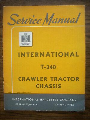 Ih Farmall Mccormick International T340 Crawler Chassis Service Manual