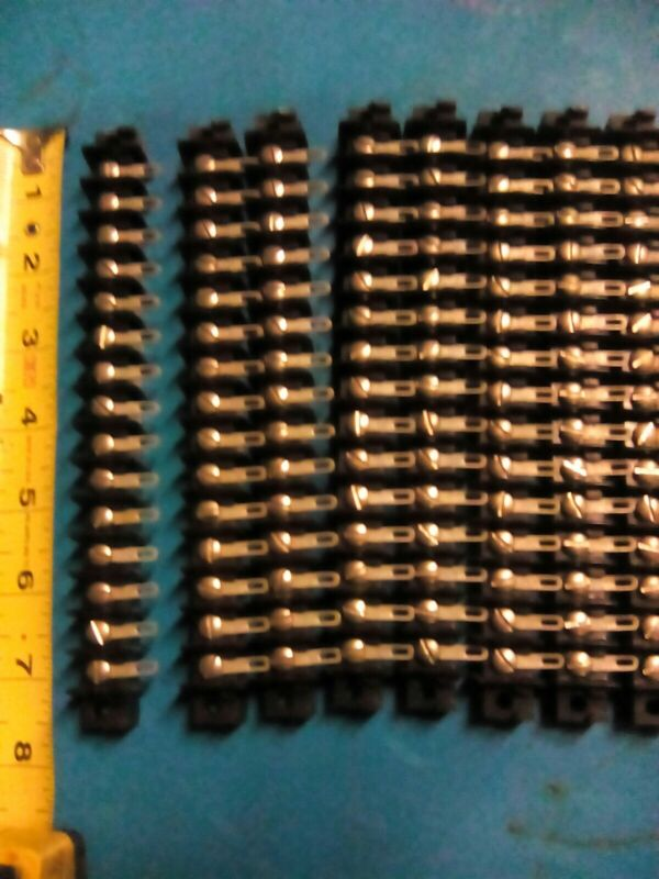 (10) 1x15 Position Single Row w/solder tabs 25 amp Terminal Block old stock