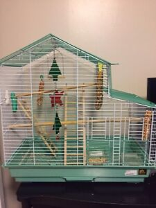 LG AND SMALL BIRD CAGE