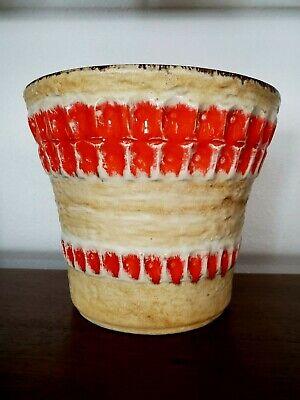 Vintage  West Germany MCM Ceramic Pottery  Planter Flower Pot 1960's