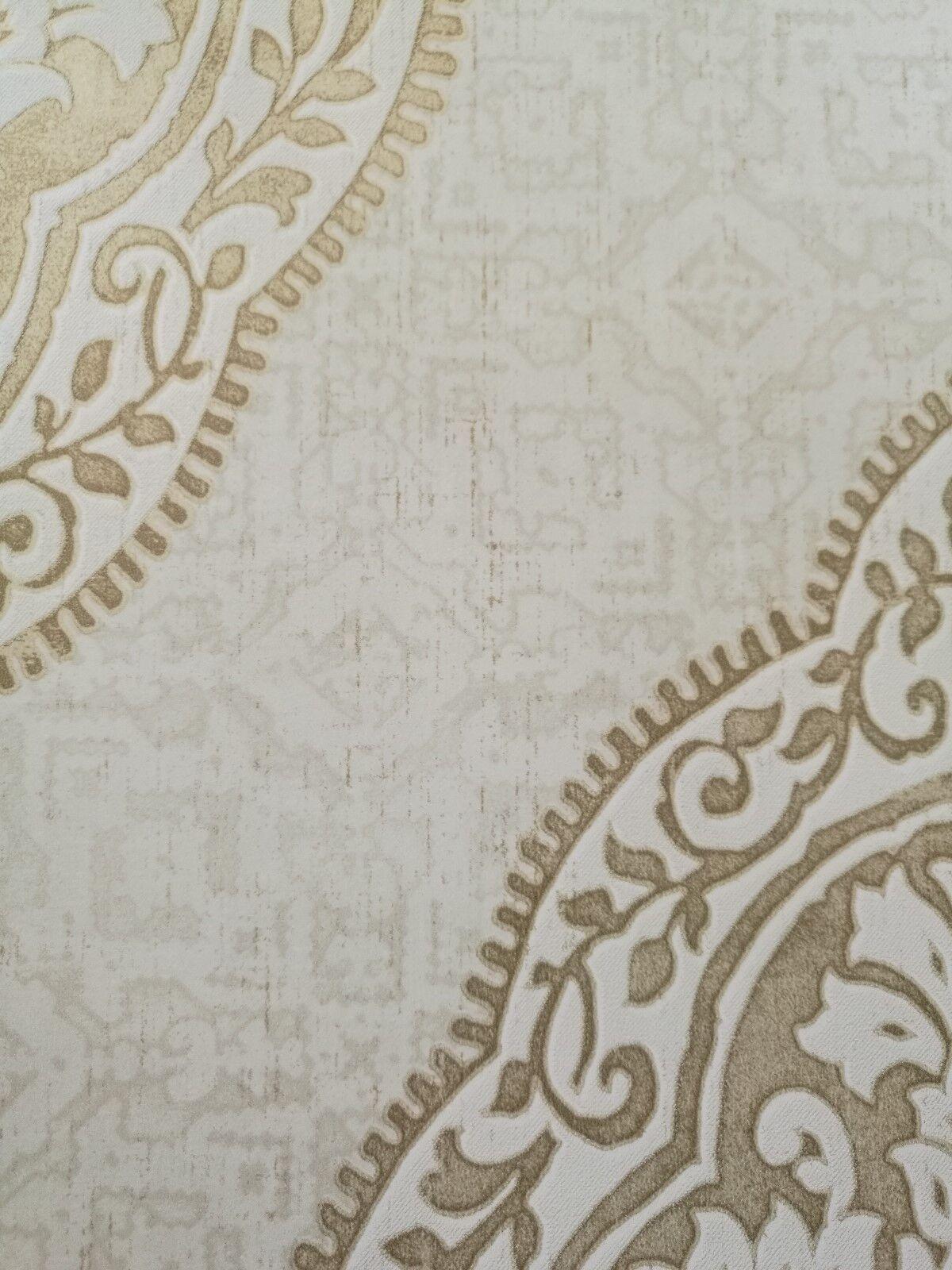 tapete designtapete ornamente gold stein eierschale. Black Bedroom Furniture Sets. Home Design Ideas