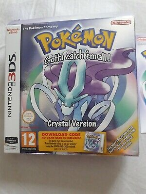 Pokemon Crystal 3DS Boxed Code